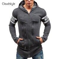 Cloudstyle 2018 Fashion Spring Summer Mens Muti Zipper Jackets Cool College Baseball Design Sportswear Mens Slim