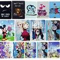 Congelados Princesa Mickey Minnie Mouse Star Wars Minions Tampa Da Caixa de Couro para a Universal 7 polegada 7.0 Tablet Para Crianças Dom