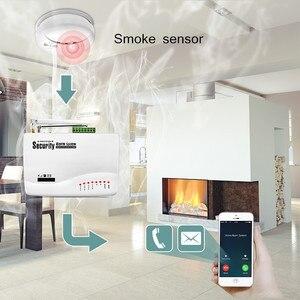 Image 5 - Fuers GSM Alarm Sistemleri Güvenlik Ev Alarm Sistemi Kitleri Rusça Sesli PIR Hareket Sensörleri Ile Kapı Dedektörleri Açık IP Kamera