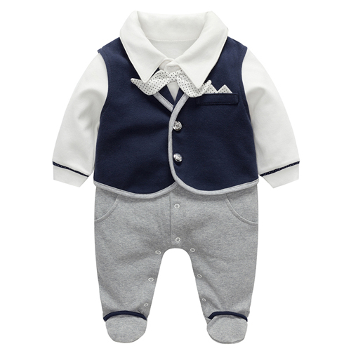 Baby Boy Outfit clothing sets Newborn Gentleman Suit Wedding Bow tie Tuxedo cotton Clothes Infant Clothing Set 1st Birthday Gift