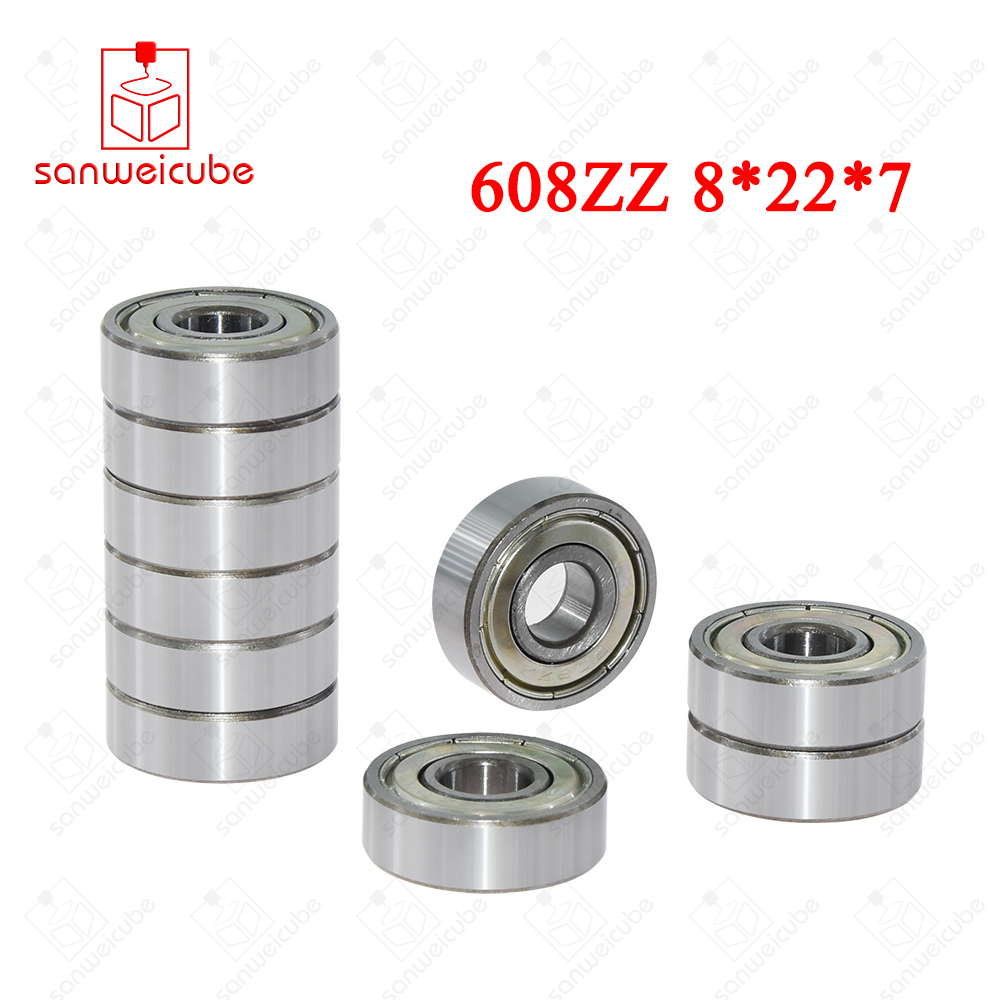 Ball Bearings S608ZZ 8x22x7mm 10pcs Stainless Steel Deep Groove Bearings