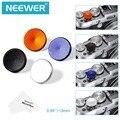 Neewer 4 pcs 15mm metal botão do obturador suave set + pano de limpeza para fuji/leica/canon/nikon/hasselblad/olympus/pentax