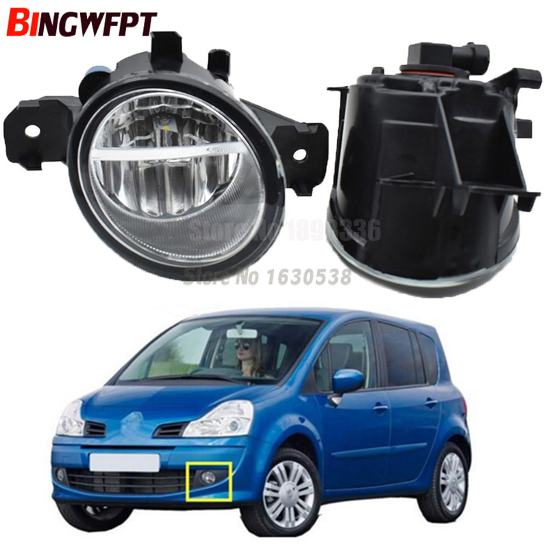 2PCS Car styling <font><b>LED</b></font> fog Lights high brightness Halogen fog lamps 1set For <font><b>Renault</b></font> Grand <font><b>Modus</b></font> 2004-2013 image