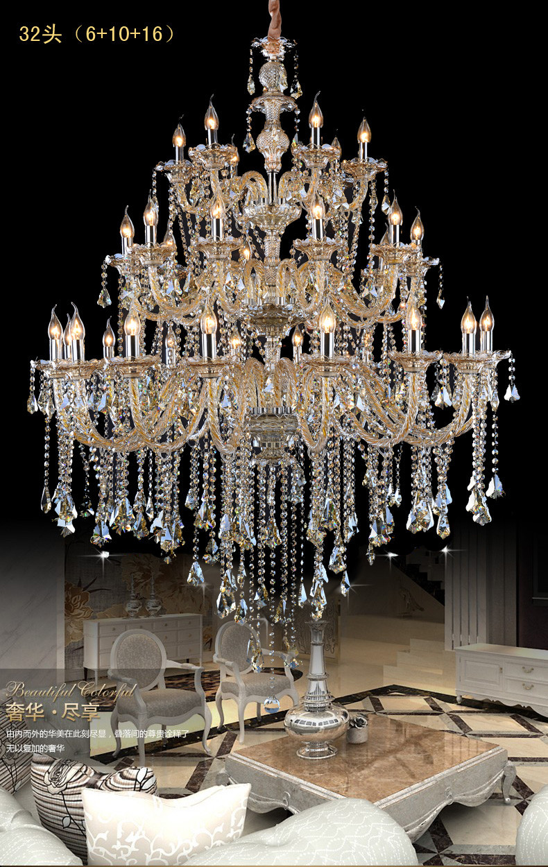Large Crystal Chandeliers Modern Chrome
