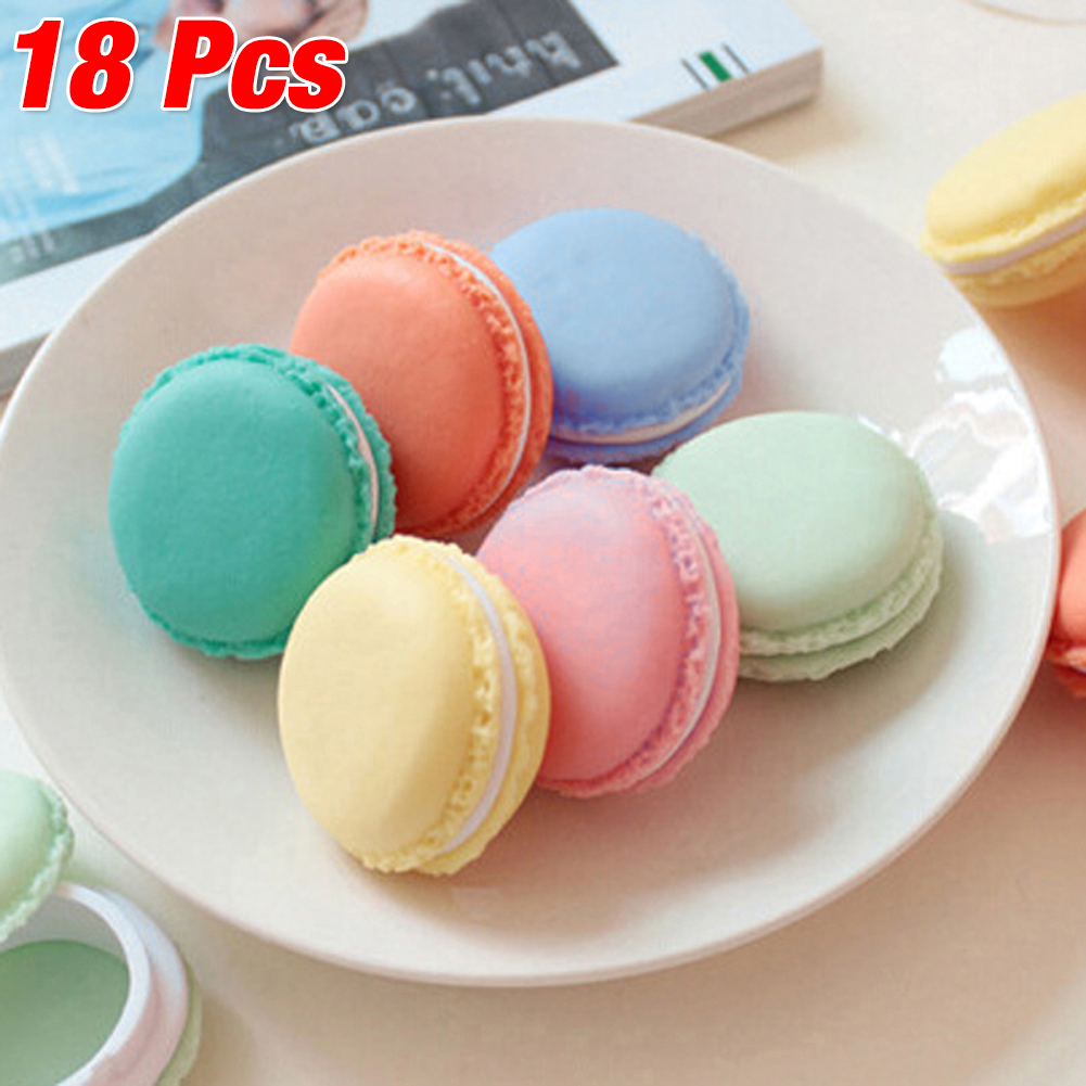 Hot New 18PCS=Each Color 3PCS Macarons Storage Box For Ear Jewelry Lovely Candy Mixed Color Organizers Cheap Sale