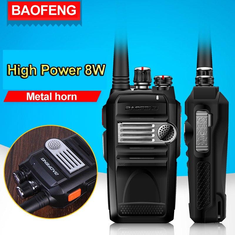 bilder für Baofeng BF-758S Professional Walkie Talkie 8 Watt High Power Tragbare Zweiwegradio UHF 400-480 MHz Pofung Walkie Talkie PTT