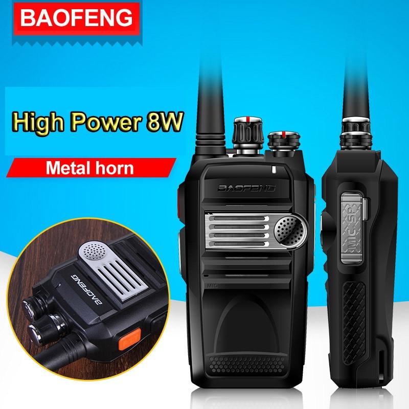 imágenes para Baofeng Walkie Talkie BF-758S Profesional 8 W de Alta Potencia Portátil de Dos Vías de Radio UHF 400-480 MHz Talkie Pofung Talkie PTT