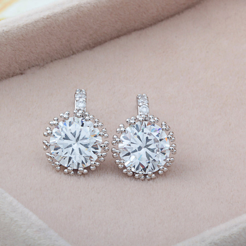 Simple Design Cz Diamond Earrings Imitation Studs For Women In Stud From Jewelry Accessories On Aliexpress Alibaba Group