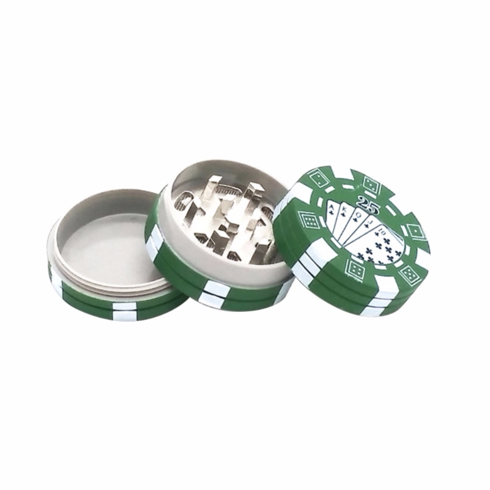 2 Model 3 Layers Poker Chip Style Herb Herbal Tobacco Grinder Weed Grinders Smoking Pipe For Gift