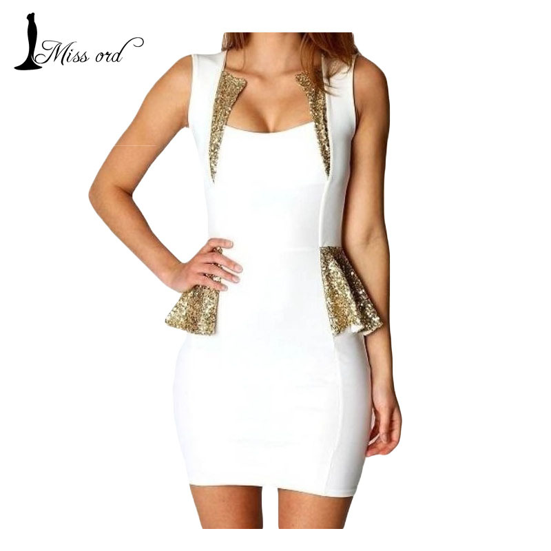 Free shoping Flouncing sequined  Tight party  dress notu882