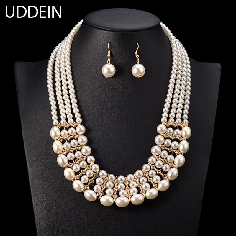UDDEIN Multi Layer Pearl...