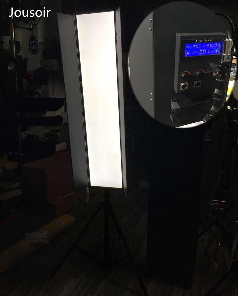 LED Panjang 1.2 Meter LED Kamera Lampu Kino Flo Potret Makeup Lampu DMX Control Berbentuk V Gusset Plate Cd50