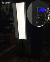 led long 1.2 meter led camera lamp kino flo portrait makeup lamp DMX control v shaped gusset plate cd50