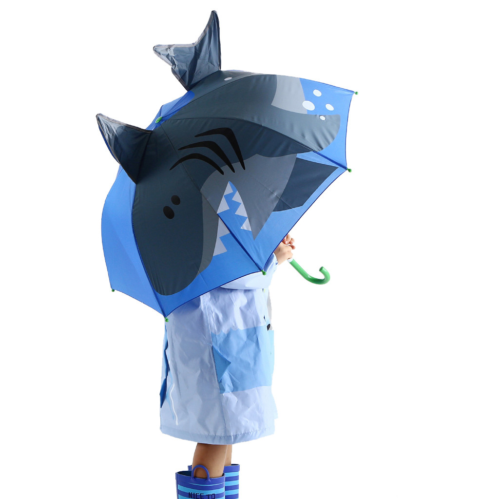 Image 3 - Baby Cover Parasol For Sun Rain Protection UV Rays 3D Cartoon Outdoor Umbrella Wind Resistant Folding Umbrella Rain Windproof-in Umbrellas from Home & Garden