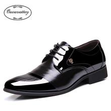 2016 Classical Men Dress Flat Shoes Luxury Men's Business Oxfords Casual Shoe Black / Brown Leather Derby Shoes