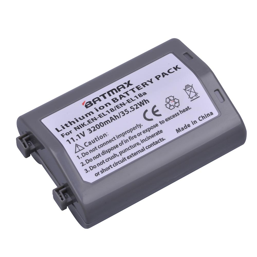1Pc 3200mAh EN-EL18 EN EL18 ENEL18 EN EL18 Camera Battery for Nikon D4, D4S, D5 Cameras Nikon MB-D12, D800, D800E Battery Grip все цены