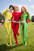 Sexy Women/Lady/Girls Totally Spies Base Suit Lycra Spandex Superhero Zentai Catsuits Cosplay Costume 5 Color Halloween Bodysuit цена