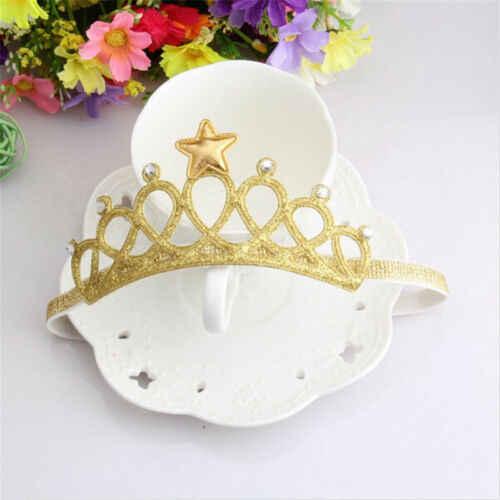 เด็กน่ารักเด็กทารกเด็กวัยหัดเดิน Princess Crown ผมวง Headwear Headband อุปกรณ์เสริมน่ารักสาวทองเงิน Hairbands Head สวมใส่