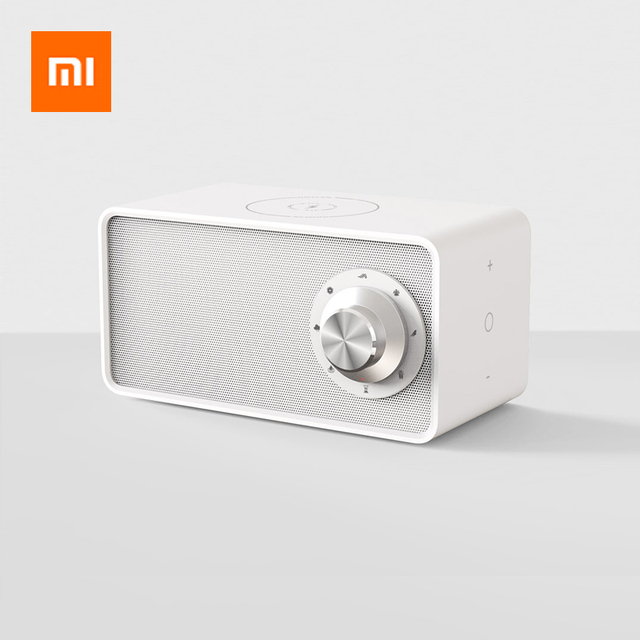 Xiaomi Bluetooth 5.0 Speaker White Noise Mechine Qi Wireless Charger Wireless Speaker With Mic For iPhone XS/X/8/7/6 Huawei