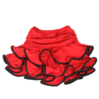 Girls Latin Dance Skirt Ballroom Samba Chacha Dancing Dress Inside With Shorts Kids Mini Skirt