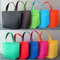 2016 Free Shipping Wholesale 50pcs/lot 3 Sizes 10 Different Colors Non Woven Shopping Bags Recycle Promotional Bags