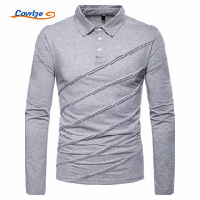 Covrlge Polo Shirt Men Plus Size Autumn Winter Brand Mens Long Sleeve Casual Male Shirts MTP100