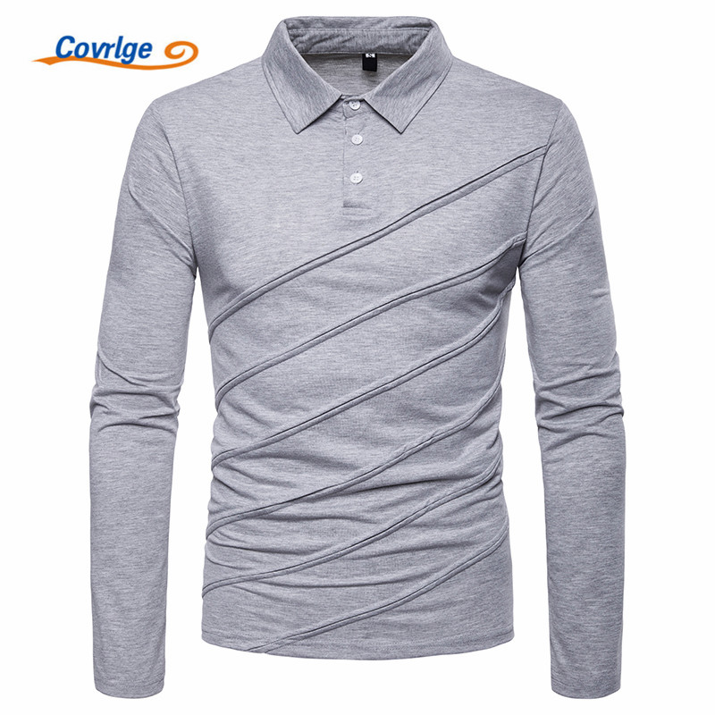 Covrlge   Polo   Shirt Men Plus Size Autumn Winter Brand Men's   Polo   Shirt Long Sleeve Casual Male Shirt Mens   Polo   Shirts MTP100