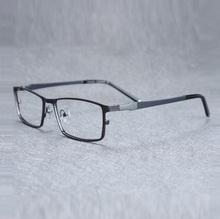 alloy eyeglasses frame Spectacle men titanium eyewear frames male half rim ultra light radiation business