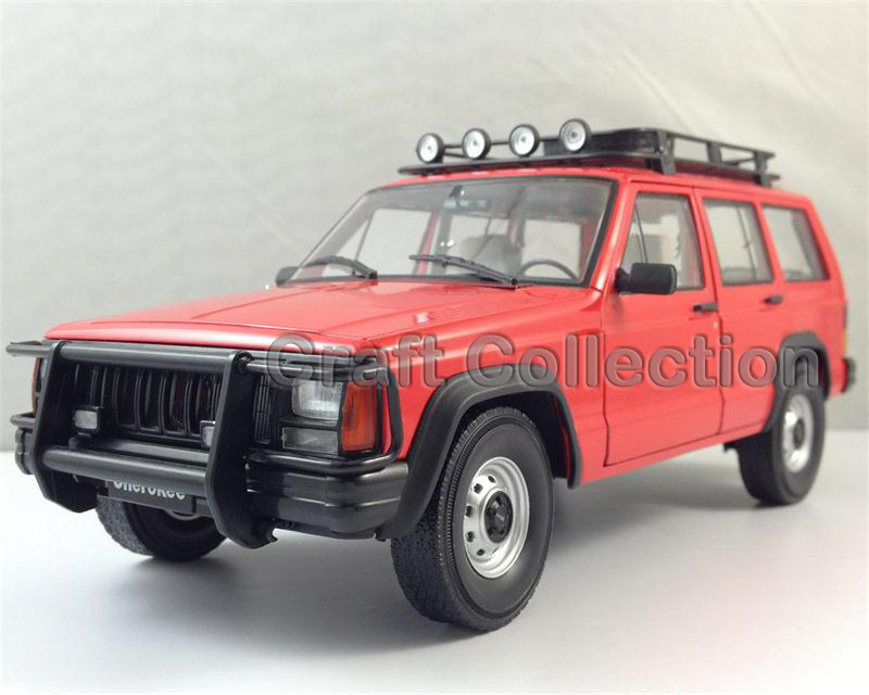 * Red 1/18 Car Model for Jeep Cherokee 2500 Off Road Vehicle SUV Alloy Toy Car 1 18 otto renault espace ph 1 2000 1 car model reynolds