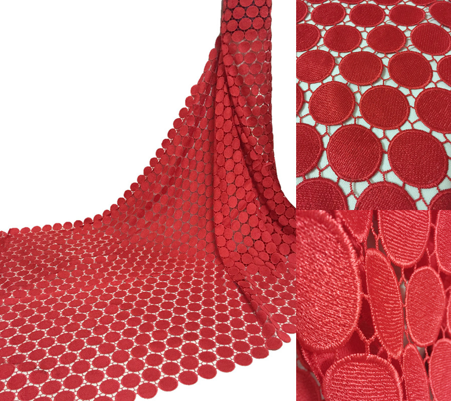 RF1610 New African Polyester Nigerian Guipure Cord Lace,high Quality Water Soluble Lace Fabric For Wedding Dresses 5y/lot