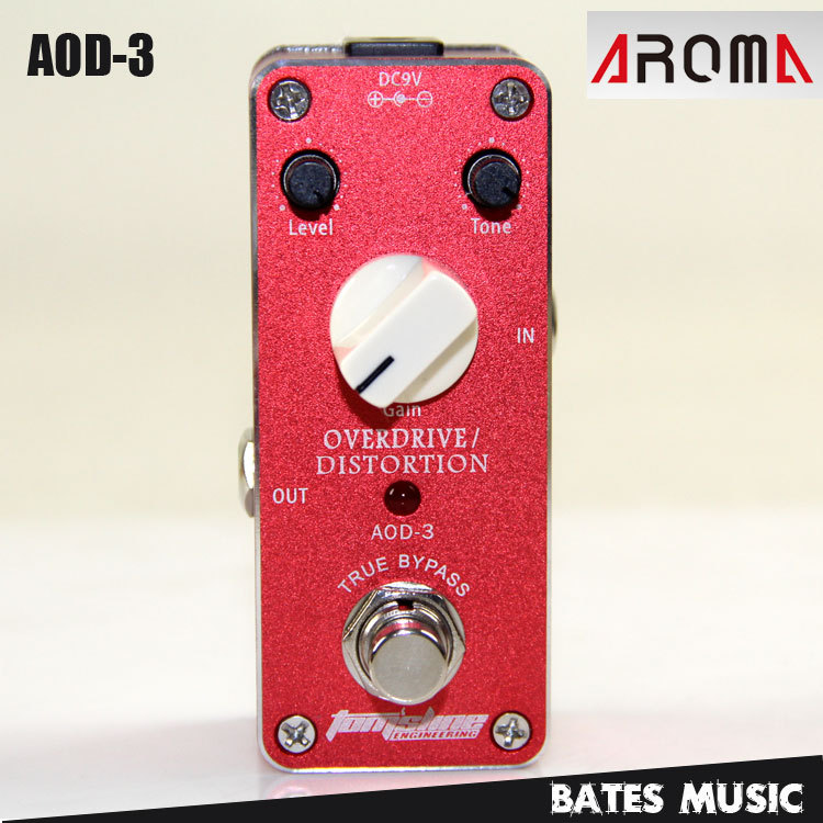 MINI Effect Pedal / Aroma AOD-3 Overdrive/Distortion AC/DC Adapter Jack True Bypass mini effect pedal aroma adt 3 distortion ac dc adapter jack true bypass guitar pedal