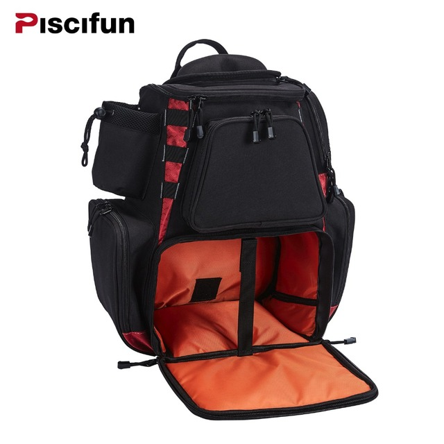 Piscifun Fishing Tackle Backpack Waterproof Bag Trays Storage Outdoor Protective Rain Cover