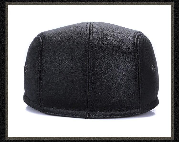 men leather captain hat natural cow (16)