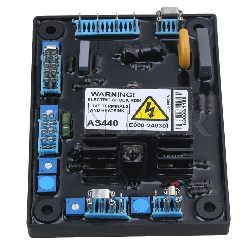 CNBTR 13.5x10x3cm Black Metal & ABS Plastic Adjustable AVR AS440 Automatic Voltage Volt Regulator Replacement for Generator цена