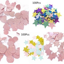 100Pcs Glitter Five Stars Paper Table Throwing Confetti Wedding Party Decoration Gift Box Filler