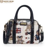 DANNY BEAR Teenager Girls Blue Messenger Bags Women Vintage Handbags Fashion Design Ladies Small Tote Bolsos de las mujeres