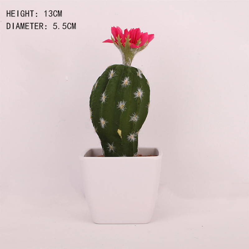 Image 2 - Artificial Plastic Cactus Succulents Prickly Pear Potted Plant no Pot Eco Friendly Simulation Home Office Desktop Decorations-in Artificial Plants from Home & Garden