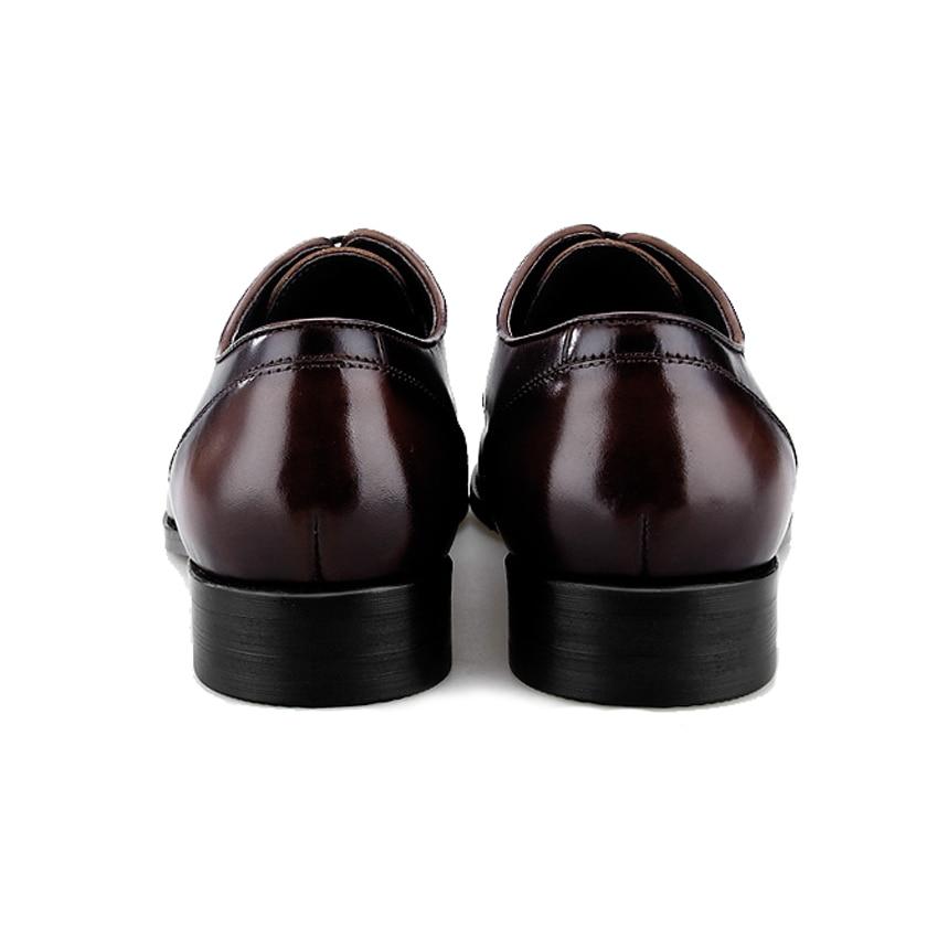 Bql55 Vaca Formal Arrivla 2018 Vestido Oxfords Redonda Diseñador marrón Hombre Cuero Hombres Auténtico Masculina Pisos Negro Punta Zapatos Encaje Lujo Nueva De q0qHwxa