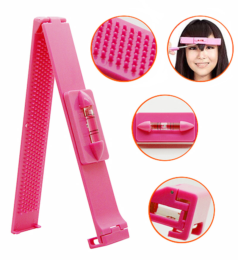 Hot Sale DIY Hairdresser Modeling Style Tool Bang Pure Artifact For Oblique Fringe Hair Scissor Trimming Tool Set