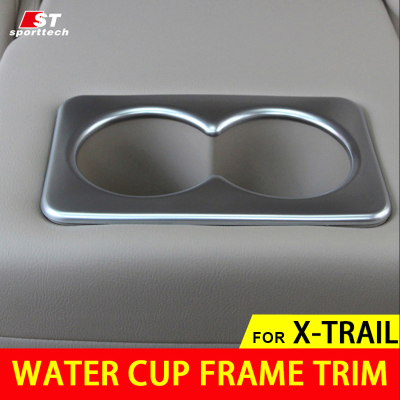 2016 Car Styling Water Cup Frame Trim For Nissan Water Cup Car Stickers Covers For Nissan X-Trail Rogue 2014-2018 Accessories left hnad drive car styling accessories interior car cover trim decoration 18pcs for nissan x trail rogue 2014 2015 2016 2017
