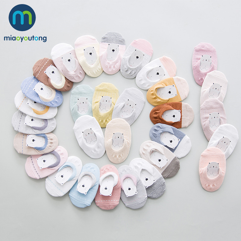 5 Pair Safe Non-slip Rubber Comfort Cotton High Quality Soft Newborn Socks Kids Girl Socks Boy New Born Baby Miaoyoutong