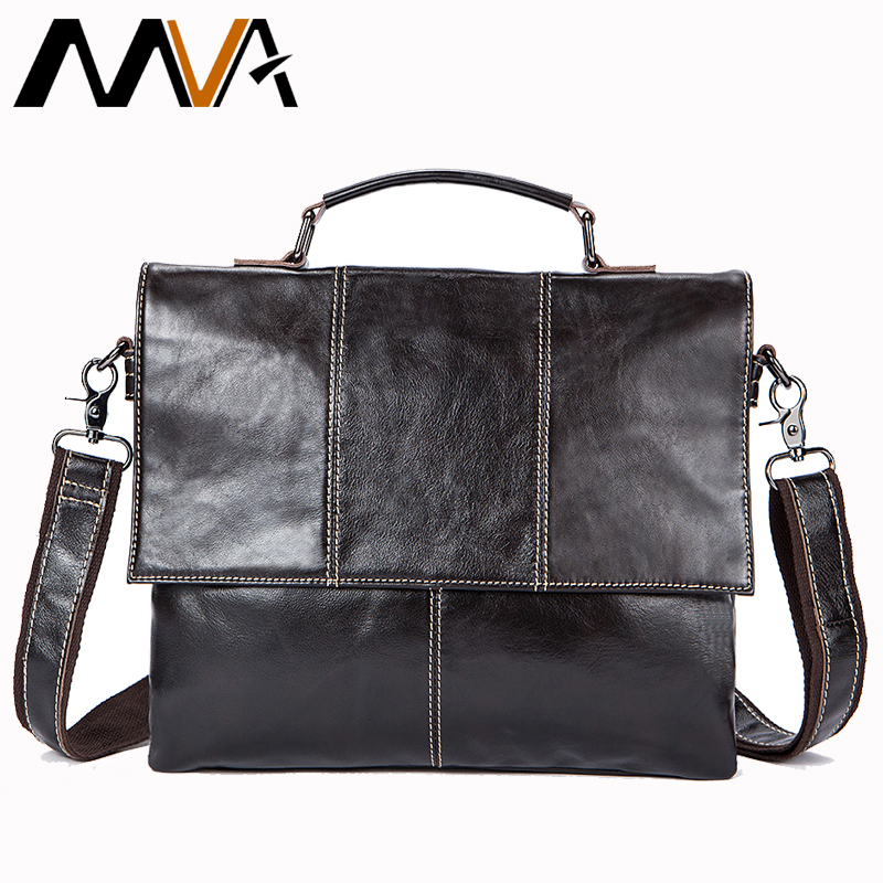 MVA сумка мужская кожаная натуральная кожа сумки на плечо мужская сумка мужская 12 ноутбук сумки через плечо для мужчин Satchels 7909