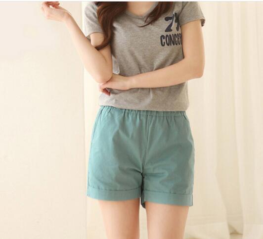 50 Pcs DHL New 2020 Summer Shorts Women Fashion Slim Solid Cotton Feminino Shorts For Women Candy Color Shorts XXXXL