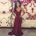Лето Dress Женщины Дамы Сексуальная Ремень Maxi Dress V-образным Вырезом Эластичный Пояс Спинки Шифон Длинные Dress Vestidos Sml XL