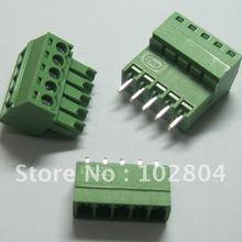 60 шт. 5pin/шаг пути 3,5 мм Винт Клеммная колодка Разъем зеленый цвет Т Тип с pin