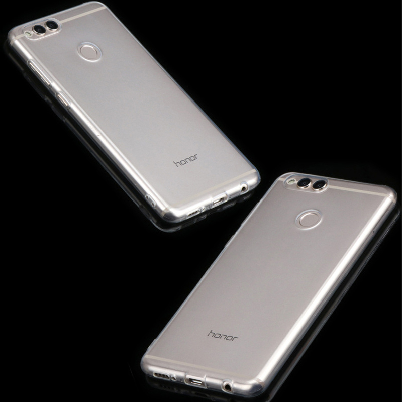 YLungMall Soft Clear Fundas for Huawei Honor 7X 6X Case Rubber Silicone Transparent Case Coque for Huawei Honor 6X Play 7X Cover