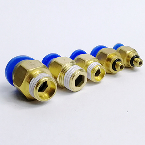 BSPT 1/8'' 1/4'' 3/8'' 1/2'' Male-4 6 8 10 12mm Pneumatic Connectors male straight one-touch fittings, PC6-01
