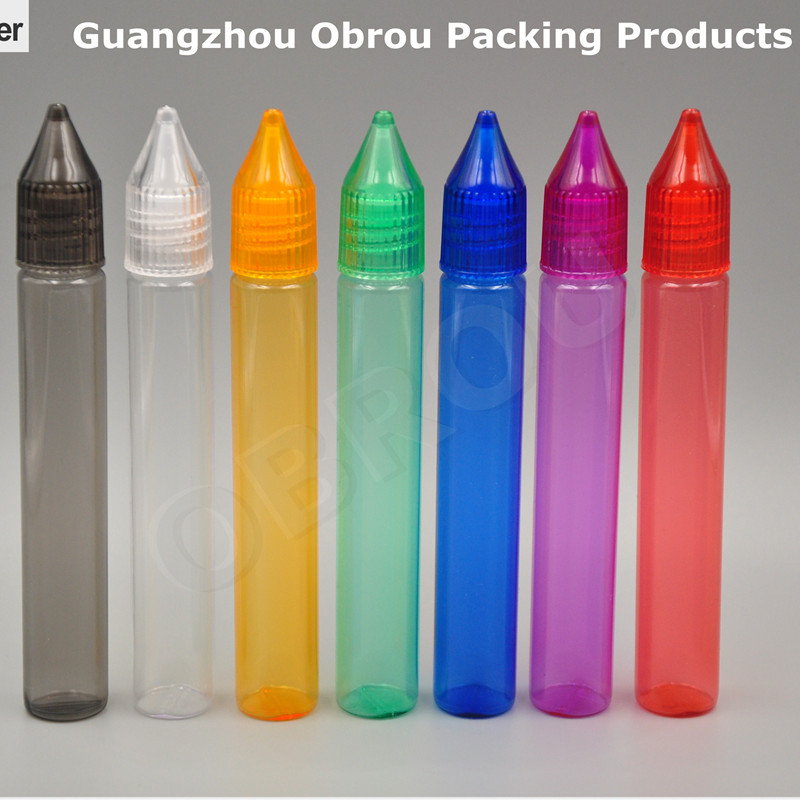 Factory Price 5pcs 15ml Colored PET Pen Bottle, Liquid Plastic Bottle ,15 Ml Dropper Bottle With Tip And Lids DROPPER