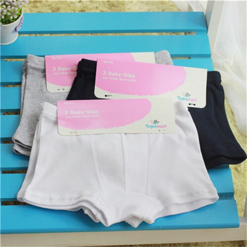 692f47116486df 6pcs/lot Germany brand 100% organic cotton solid white grey navy kids  infant boxers briefs underwear children panties clothes