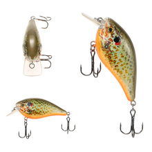 Lixada 75mm 13g Fishing Lure Crank Bait Wobbler Lure with Isca Artificial Hooks for Fresh/Saltwater Carp Fishing Tackle